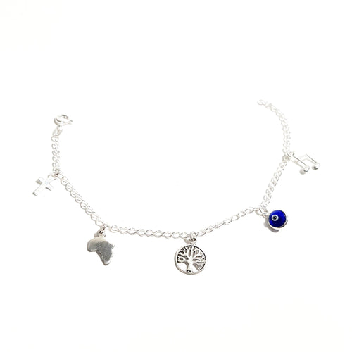 Sterling Silver Charm Bracelet- Pure Magic - Lakota Inspirations