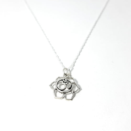 925 Sterling Silver Flower of Life OM Necklace - Lakota Inspirations