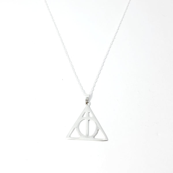 925 Sterling Silver Deathly Hallows Harry Potter Necklace - Lakota Inspirations
