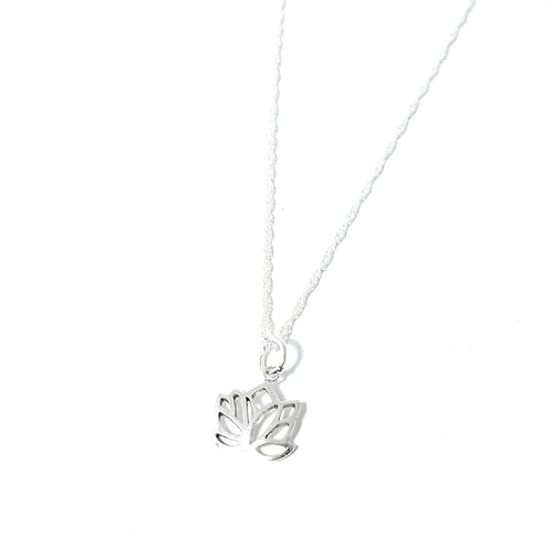 925 Sterling Silver Lotus Flower Necklace - Lakota Inspirations