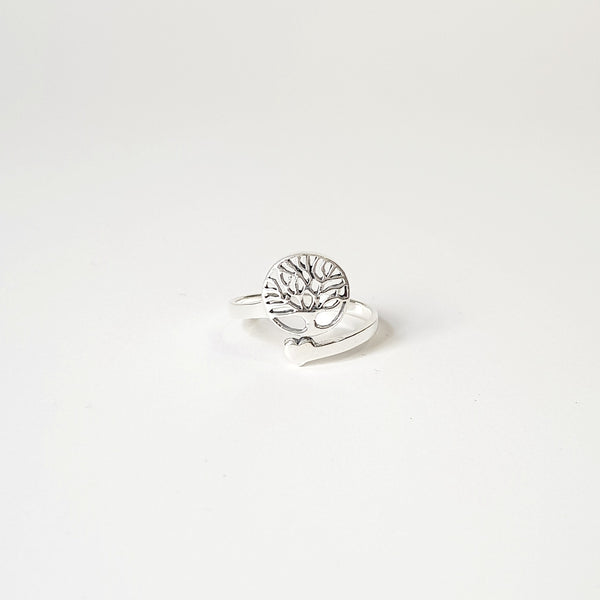 Sterling Silver Tree of Life Adjustable Ring - Lakota Inspirations