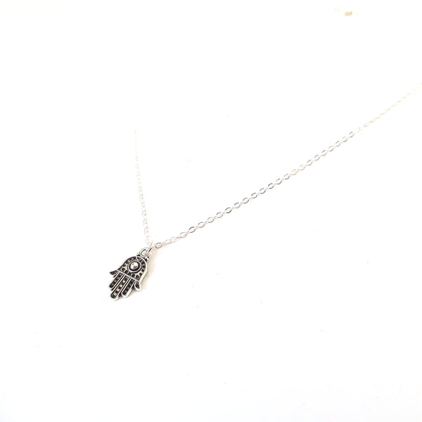 Traditional Hamsa Hand Charm Chain Necklace - Lakota Inspirations
