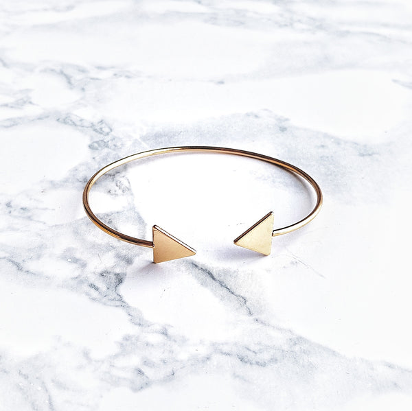 Triangular Geometry Bangle - Lakota Inspirations