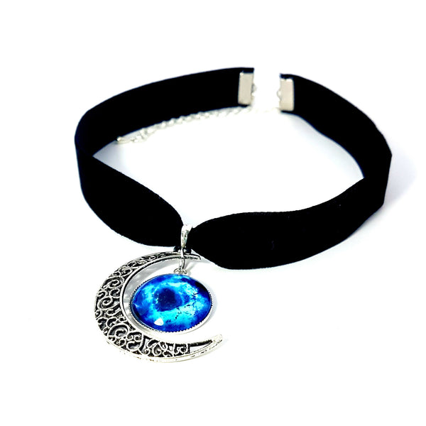 Black Velvet Galaxy Choker - Lakota Inspirations
