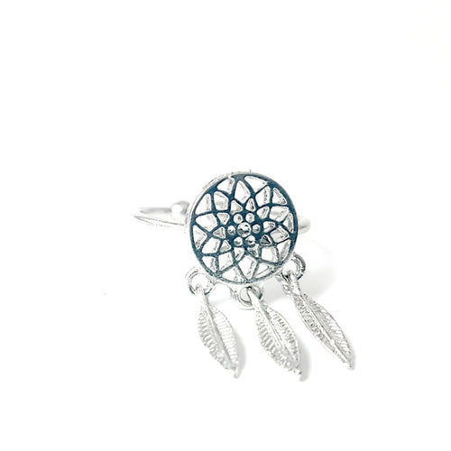 Dream Catcher  Silver Plated Ring - Lakota Inspirations