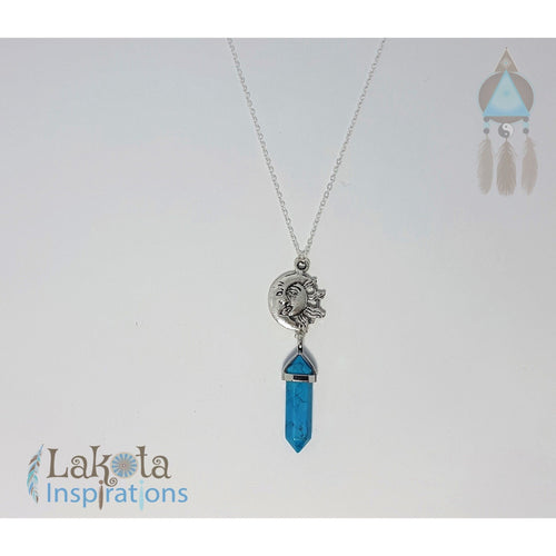 Turquoise Crystal Designer Charm Necklace (Assorted) - Lakota Inspirations