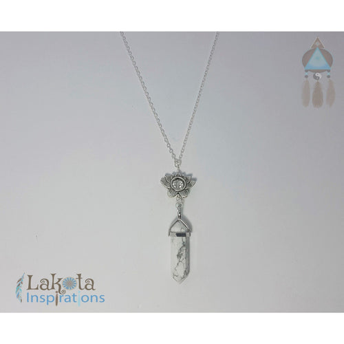 Howlite Crystal Designer Charm Necklace (Assorted) - Lakota Inspirations