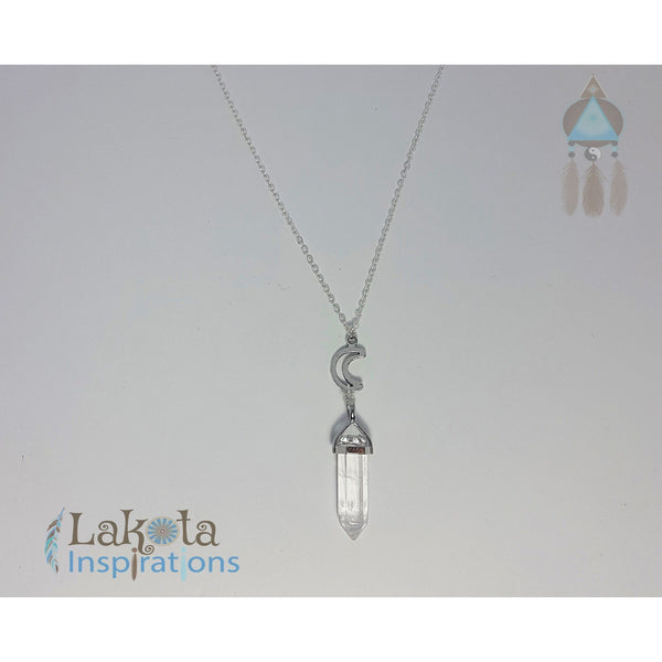 Clear Quartz Crystal Designer Charm Necklace (Assorted) - Lakota Inspirations