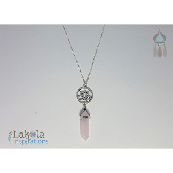 Rose Quartz Crystal Designer Charm Necklace (Assorted) - Lakota Inspirations