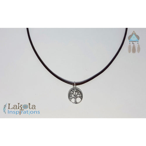 Charm Brown Cord Necklaces for HIM - Lakota Inspirations