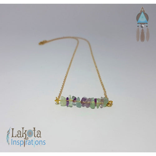 Gold Gemstone Bohemian Necklace - Lakota Inspirations