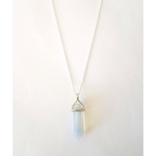 Opalite Silver Plated Crystal on Silver Chain - Lakota Inspirations