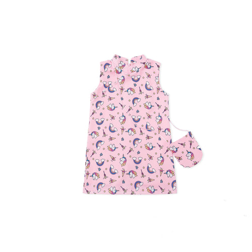 Believe in Unicorns Cheongsam - Pink