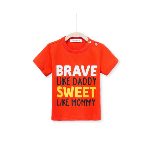 Brave Like Daddy Sweet Like Mummy - Orange