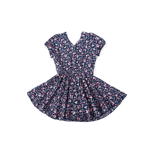 Cottage Flowers Dress - Garden Blue