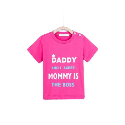 Daddy And I Agree Mommy Is The Boss - Pink