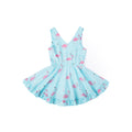 Funky Flamingo Sleeveless Dress - Summer Blue