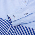 Gingham Detail Long Sleeve Shirt - Frosty White