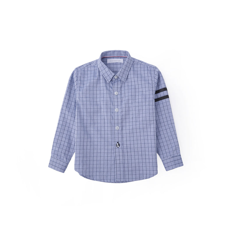 Graph Check Long Sleeve Shirt - Fern Blue