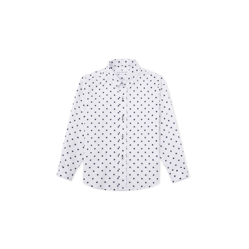 Shinning Stars Long Sleeve Shirt - White