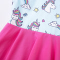 Rainbow and Unicorns Dress - Blue