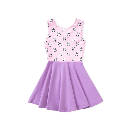 Panda Happy Dress - Pink