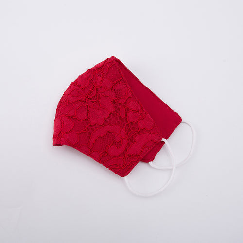 Little Spring Lace Mask - Red