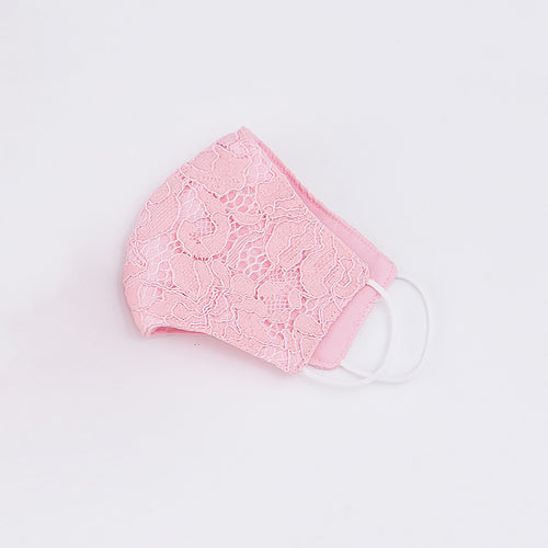 Little Spring Lace Mask - Pink