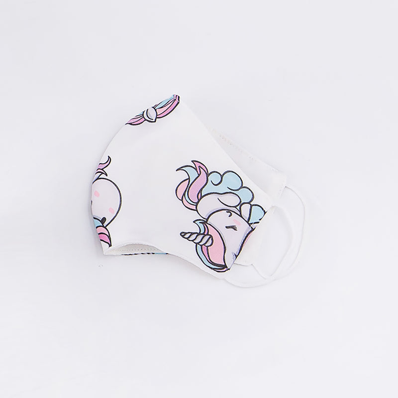 Chiffon Unicorn Mask - White