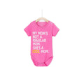 My Mom's Not A Regular Mom She's A Cool Mom Baby Romper - Bubblegum
