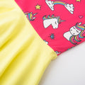 Rainbow and Unicorns Dress - White