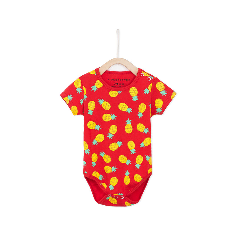 Pineapple Baby Romper - Red