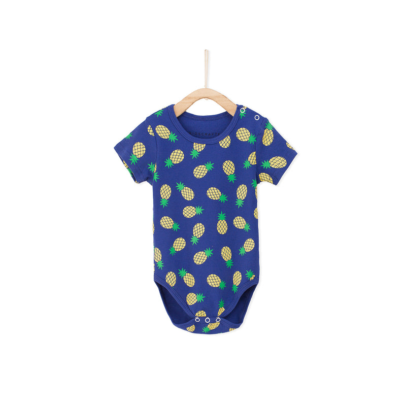 Pineapple Baby Romper - Blue