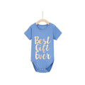 Best Gift Ever Baby Romper - True Blue