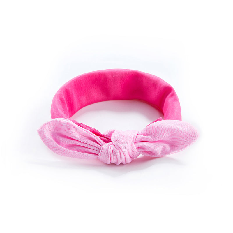 Baby Girl Bow Headband - Baby Pink