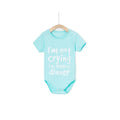 I'm Not Crying Onesie - Turquoise