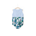 Blooming Rose Dress Romper - Allure Blue