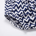 Chevron Mod Sleeveless Dress - Prussian Blue