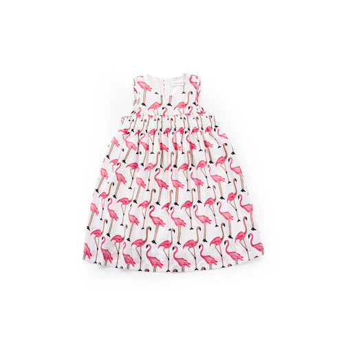 Fable Flamingo Babydoll Dress - Soft Ivory