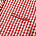 Gingham Check Long Sleeve Shirt - Ink Red