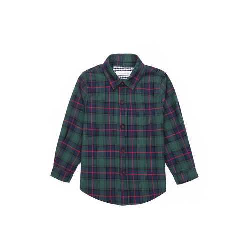 Modern Tartan Long Sleeve Shirt - Highland Green