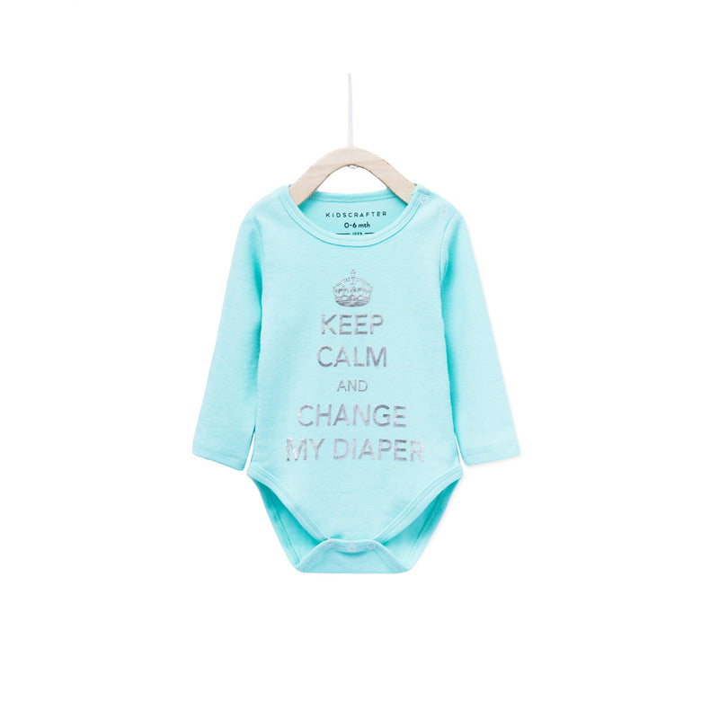 Keep Calm And Change My Diapers - Light Blue