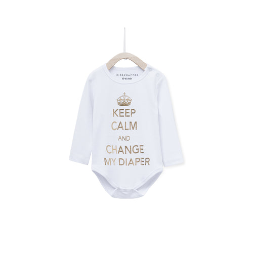 Keep Calm And Change My Diapers - White