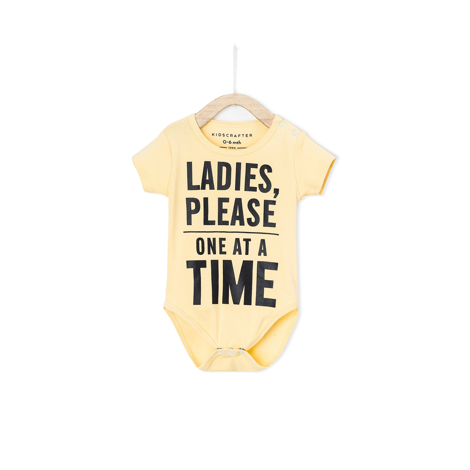 93b0ac035 Ladies Please One At A Time - Yellow – KIDSCRAFTER