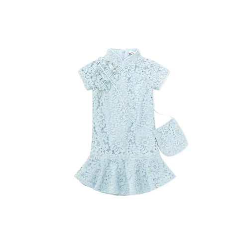 Little Mermaid Lace Cheongsam - Blue