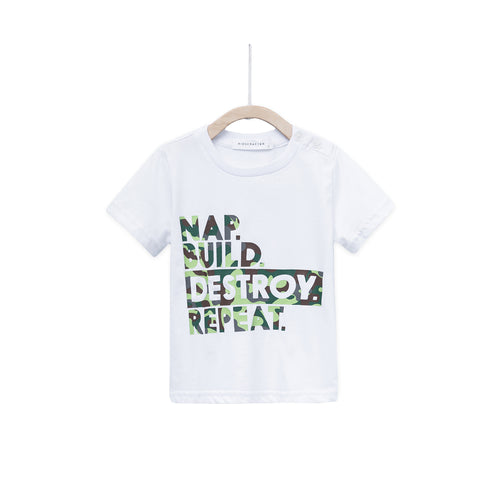 Nap Build Destroy Repeat - White