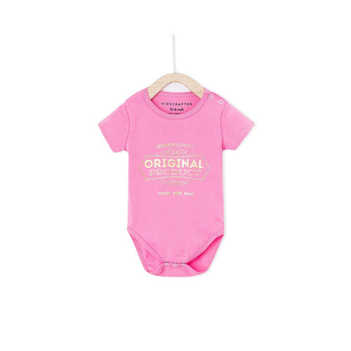 Original Production Made With Love Baby Romper - Bubblegum
