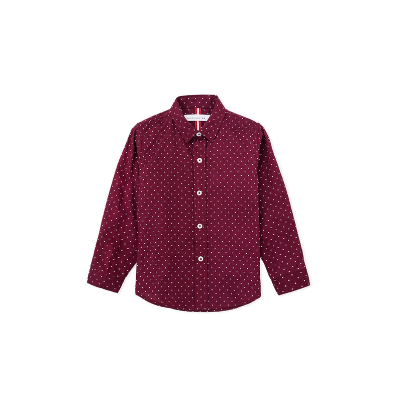 Polkadots Long Sleeve Shirt - Red