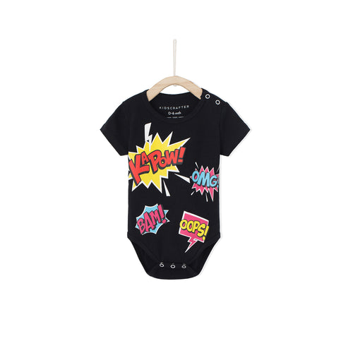 Comic Romper - Black