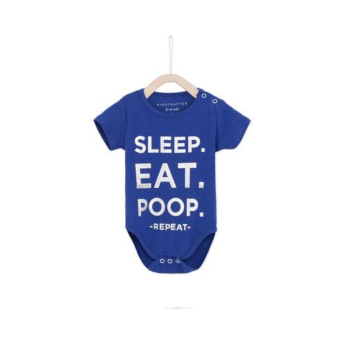 Sleep. Eat. Poop, Repeat - Blue